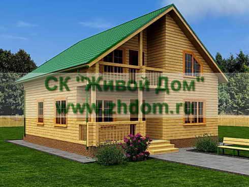 Дом из профилированного бруса 9х9