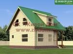 Проект дома 8х8 из профилированного бруса