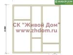 Дом под ключ 8х8 с фундаментом