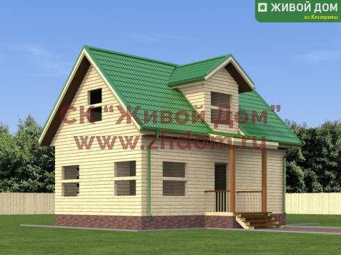 Дом из профилированного бруса 6х9 - цена, фото