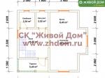 Планировка дома 7х7 из профилированного бруса