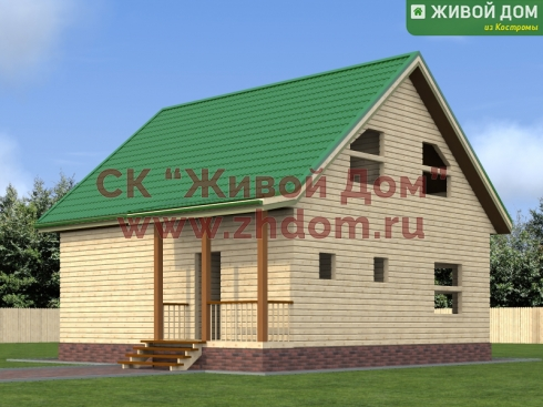 Проект дома из профилированного бруса 8,2х8,6