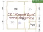 Планировка дома 8,2х8,6 из профилированного бруса