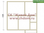 Дом под ключ 8,2х8,6 с фундаментом