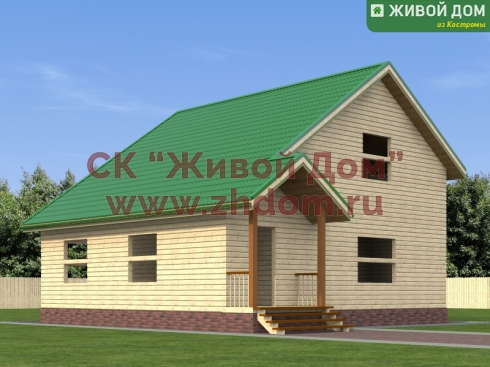 Проект дома из профилированного бруса 9х9,5