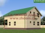 Проект дома 8х11 из профилированного бруса