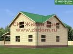 Проект дома из бруса 9х11