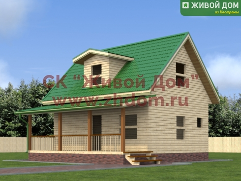 Дом из профилированного бруса 8х8 - цена, фото