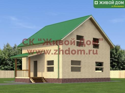 Дом из профилированного бруса 8х9 - цена, фото