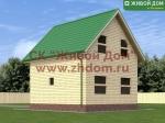 Фото и цена дома 6х7 из профилированного бруса