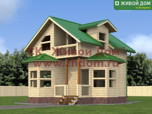 Брусовой дом 6х7