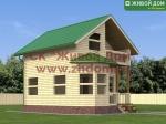 Проект дома 7х6 из профилированного бруса