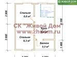 План дома 7х6 из профилированного бруса
