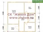 Планировка дома 8x8 из профилированного бруса