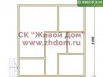 Дом под ключ 8x8 с фундаментом