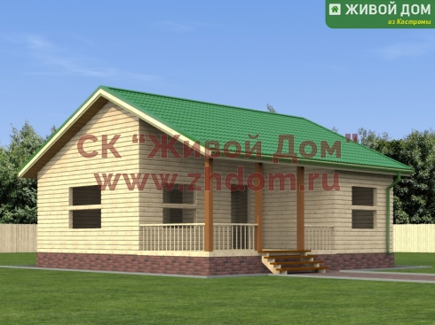 Проект дома из профилированного бруса 8х8