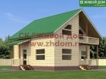 Проект дома 9х9 из профилированного бруса