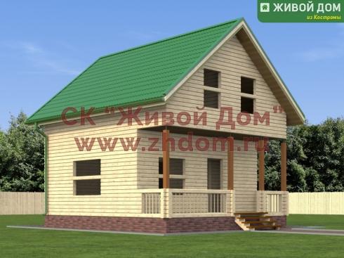 Дом из профилированного бруса 7х8 - цена, фото