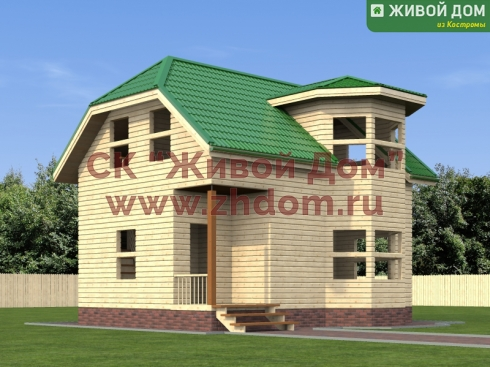 Проект дома из профилированного бруса 6х8