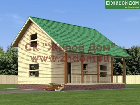 Проект дома из профилированного бруса 8х9
