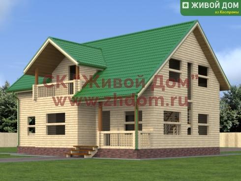 Проект дома 9х12,5