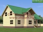 Проект дома 9х12,5 из профилированного бруса