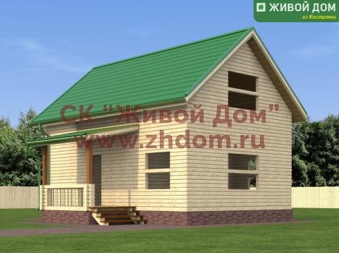 Дом из профилированного бруса 6 на 9