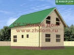 Фото и цена дома 6х9 из профилированного бруса