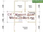 Планировка дома 6х9 из профилированного бруса