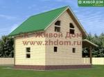 Фото и цена дома 6х6 из профилированного бруса