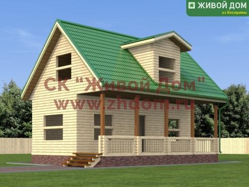 Проект дома из профилированного бруса 6х9