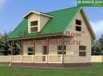 Проект дома 6х9 из профилированного бруса