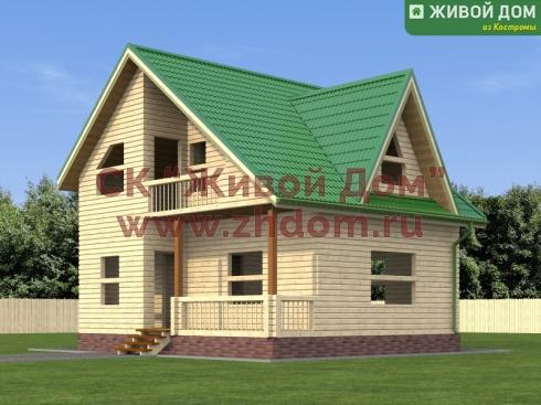Брусовой дом 7х8