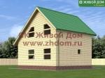 Фото и цена дома 7х8 из профилированного бруса