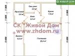 Планировка дома 7х8 из профилированного бруса
