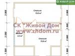 План дома 7х8 из профилированного бруса