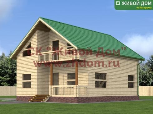 Проект дома из профилированного бруса 8х10