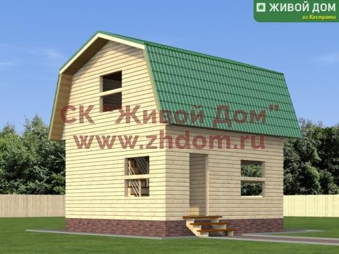 Дом 6 на 6 из бруса