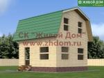 Проект дома 6х6 из профилированного бруса