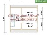 План дома 6х6 из профилированного бруса