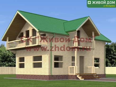 Дом из профилированного бруса 7х10 - цена, фото