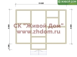 Дом под ключ 7х10 с фундаментом