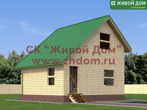 Дом из профилированного бруса 6х7 - цена, фото