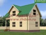 Проект дома 5х9 из профилированного бруса