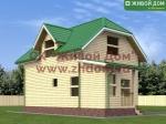 Дом из бруса 6х8 фото