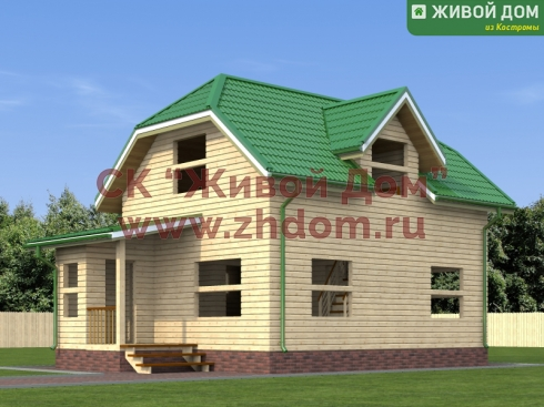 Дом из профилированного бруса 6х8 - цена, фото