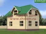 Проект дома 6х8 из профилированного бруса