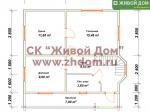 Планировка дома 7x8 из профилированного бруса