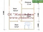 План дома 6х8 из профилированного бруса