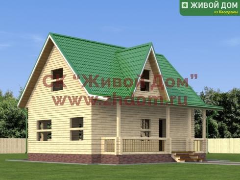 Дом из профилированного бруса 9х9 - цена, фото